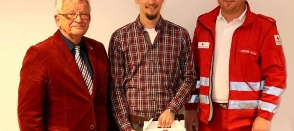Gratulation an unseren Herrn Dr. Christoph Berdenich. (c) Rotes Kreuz Oberpullendorf, Patrick Fuchs